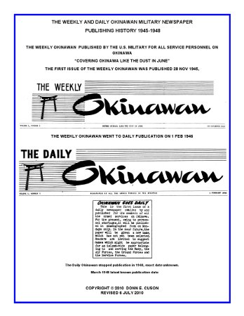 WEEKLY_DAILY_OKINAWAN_MILITARY_NEWSPAPER_HISTORY_6_JULY_2010